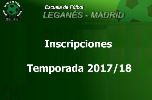 Abiertas las inscripciones para la Escuela de Fútbol Leganés-Madrid - Temporada 2017/18