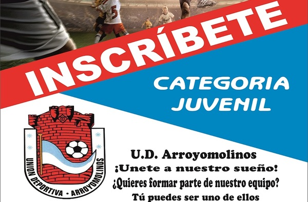 Inscríbete en el Juvenil de la U.D. Arroyomolinos - Temporada 2018/19