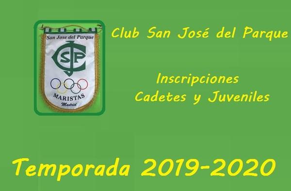 El Colegio San Jose Del Parque abre su periodo de inscripción para la temporada 2019-2020 (Categoría Juvenil y Cadete)