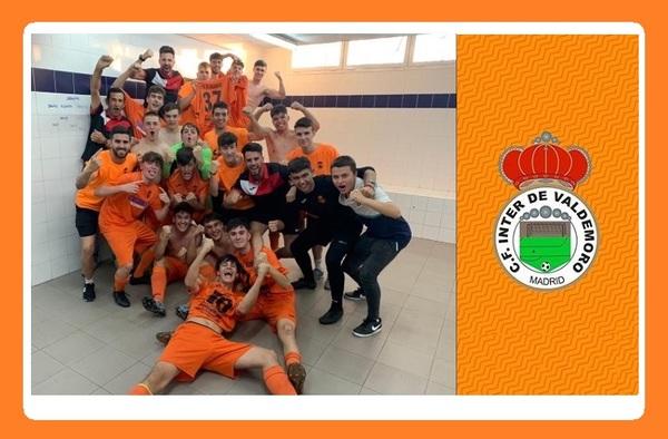 """El Juvenil """"C"""" del CF Inter de Valdemoro logra el Campeonato de liga y el ascenso de categoría en su primer año de competición"""