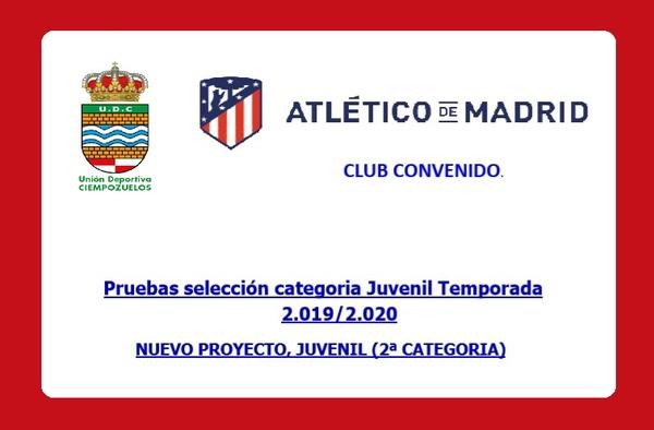 Pruebas selección categoria Juvenil en la U.D. Ciempozuelos - Temporada 2019-2020