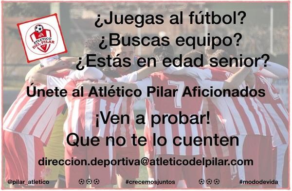 El Atlético del Pilar busca jugadores Aficionados para su equipo de nueva creación - Temporada 2019/20