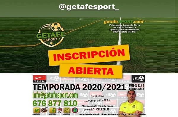 Inscripciones Abiertas en el ADC Getafe Sport - Temporada 2020/21