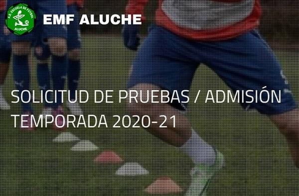 Solicitud de pruebas y admisión en la EMF Aluche para la temporada 2020/21