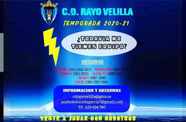 ¿Buscas equipo?,  plazas en el Rayo Velilla - Temporada 2020/21