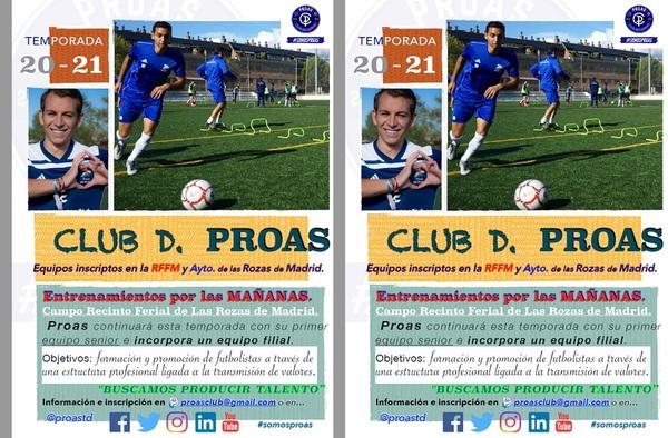 El C.D. Proas sigue creciendo para la temporada 2020/21, crean otro equipo sénior y un juvenil