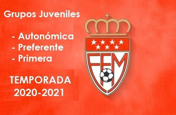 Conformados grupos de Juveniles: los 2 grupos de Autonómica, los 4 de Preferente y los 10 de Primera Juvenil para la temporada 2020-2021