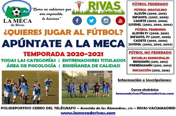 La Meca de Rivas continúa buscando jugadoras para reforzar sus equipos femeninos - Temporada 2020/21