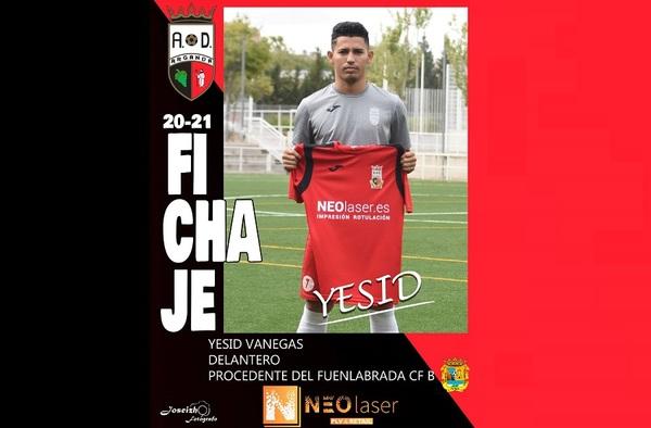 El colombiano Yesid Vanegas firma por la AD Arganda CF para la temporada 2020/21