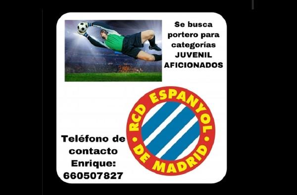 El RCD Espanyol de Madrid busca porteros para sus equipos Aficionado y Juvenil