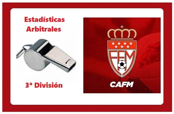 Estadísticas Arbitrales de 3ª Division -1ª Jornada -Temporada 2020/21