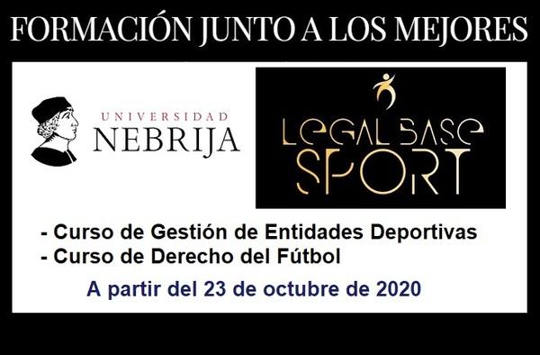 Curso de Gestión de Entidades Deportivas y Curso de Derecho del Fútbol - A partir del 23 de octubre de 2020