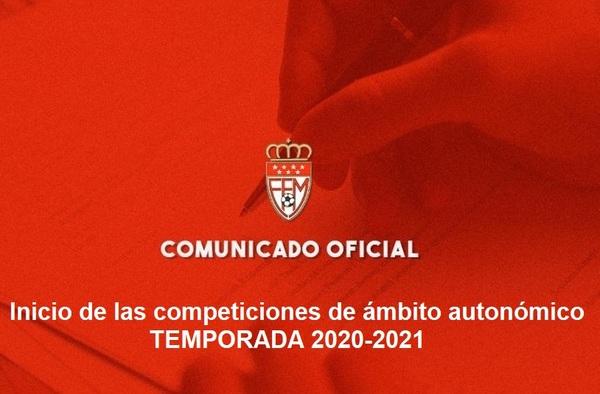 La RFFM envía un comunicado a los clubes confirmando el inicio de las competiciones de carácter autonómico para el 14-15 de noviembre de 2020