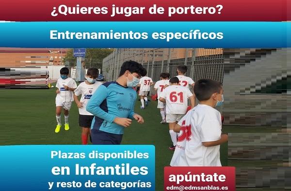 La EDM San Blas busca porteros para sus equipos de Fútbol Base - Temporada 2020/21