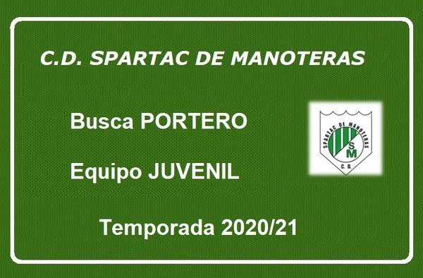 El C.D. Spartac de Manoteras busca portero Juvenil para la temporada 2020/21
