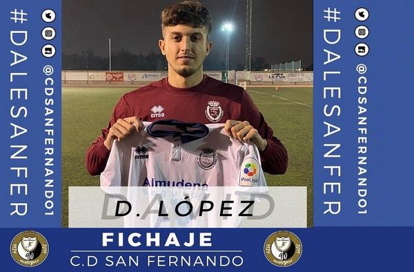 David López regresa al C.D. San Fernando tras su breve paso por el Atlético de Pinto
