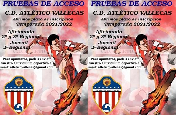 El C.D. Atlético Vallecas abre el plazo de inscripción para la temporada 2021-2022