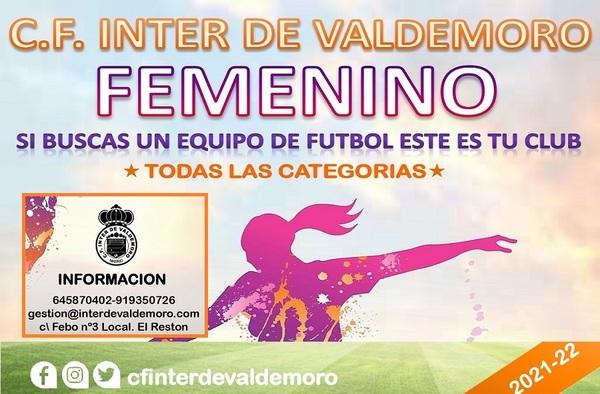 El CF Inter de Valdemoro abre su periodo de inscripción para la temporada 2021-2022