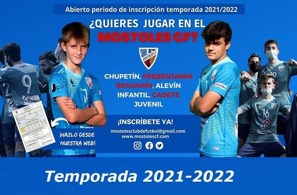 Abierto el plazo de Inscripciones y Renovaciones en el Móstoles CF - Temporada 2021-2022