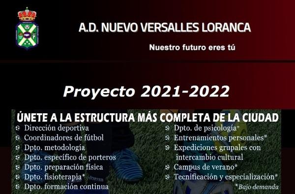 Ya puedes unirte al proyecto 2021/2022 del A.D. Nuevo Versalles Loranca