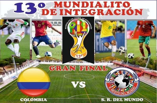 Selección Resto del Mundo - Colombia: Final del 13ª Mundialito de Integración