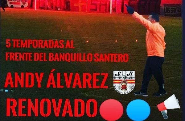 Los Santos de la Humosa CF vuelve a confiar en Andy Álvarez para dirigir al equipo - Temporada 2021/22