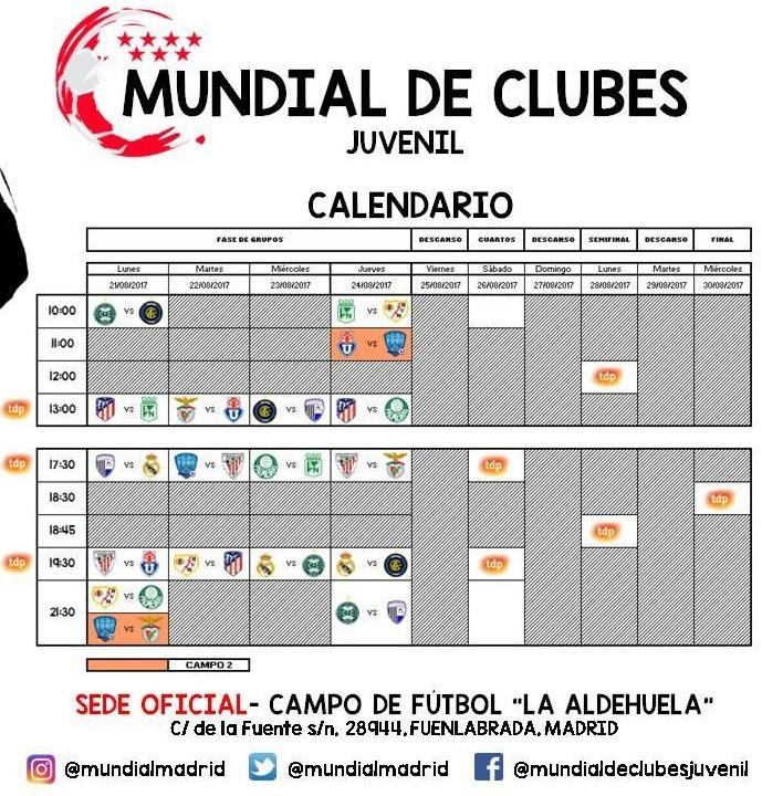 Calendario Mundial Clubes.Todo Listo Para El Mundial De Clubes Juvenil En Fuenlabrada