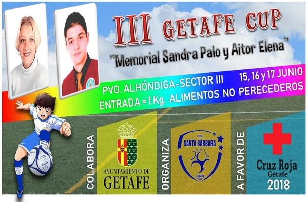 """III Getafe Cup """"Memorial Sandra Palo y Aitor Elena"""" - 15, 16 y 17 de junio de 2018"""