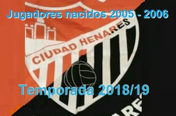 Club Ciudad Henares Infantiles (nacidos 2005-2006) - Temporada 2018/19