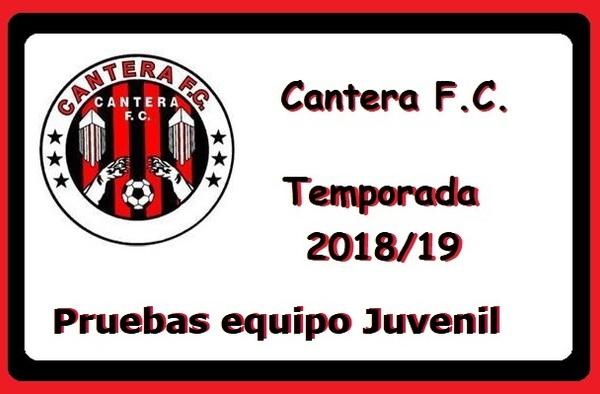Pruebas para el Juvenil del Cantera FC - 28 y 30 de agosto de 2018