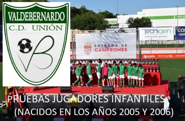Captación de jugadores Infantiles en el C.D. Unión Valdebernardo - Temporada 2018/19