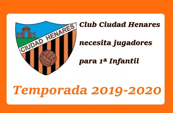 El Club Ciudad Henares (Alcalá de Henares) necesita jugadores para jugar en Primera Infantil - Temporada 2019/20