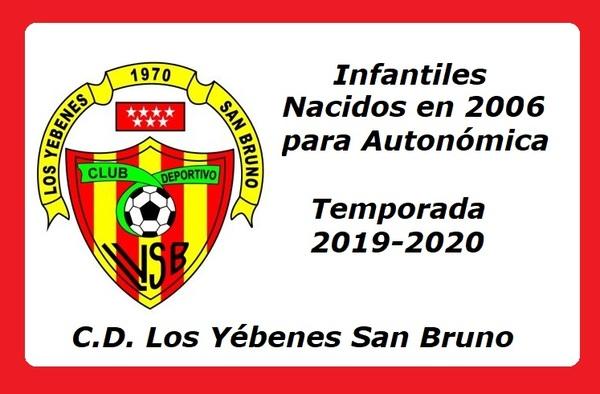 El C.D. Los Yébenes San Bruno busca Infantiles para Autonómica - Temporada 2019-2020