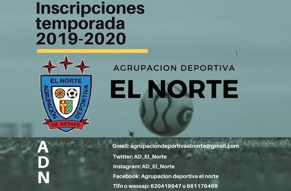 La A.D. El Norte de Getafe busca jugadores en Categoría Cadete para la temporada 2019/20