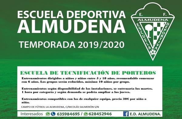 Escuela de Tecnificación de Porteros E.D. Almudena - Temporada 2019/20