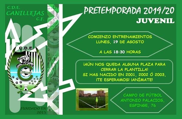 El Juvenil del CDE Canillejas CF busca jugadores para completar la plantilla - Temporada 2019/2020