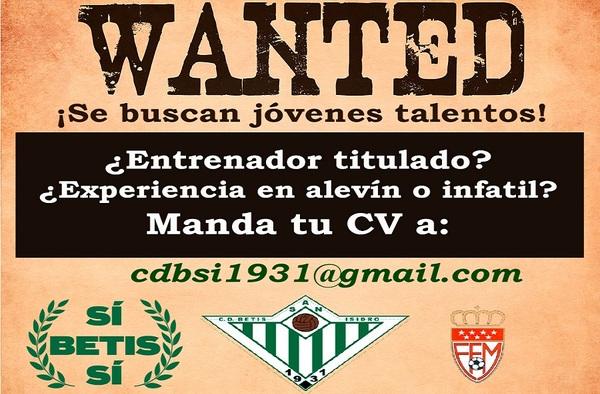 El C.D. Betis San Isidro busca entrenadores para su cantera - Temporada 2019-2020