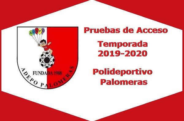 Pruebas de Acceso Adepo Palomeras para la temporada 2019/20