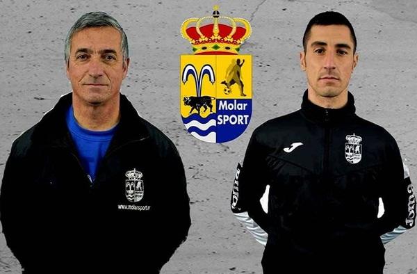 Luis Ruiz y Javi Benito, en el banquillo del nuevo proyecto del Juvenil del C.D. Molar Sport - Temporada 2019/20