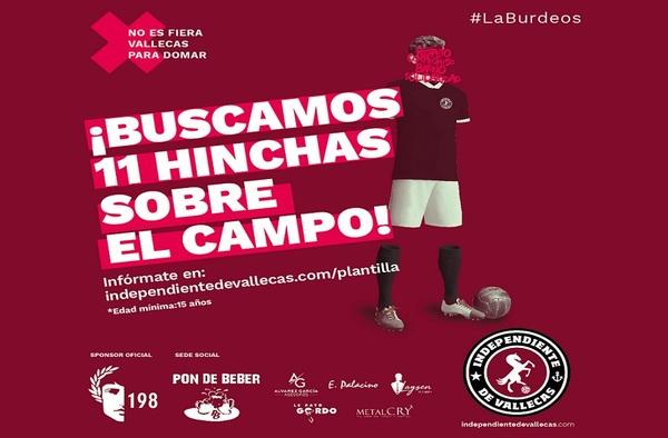 El Indepediente de Vallecas busca laterales y extremos para completar plantilla en su debut en el fútbol federado