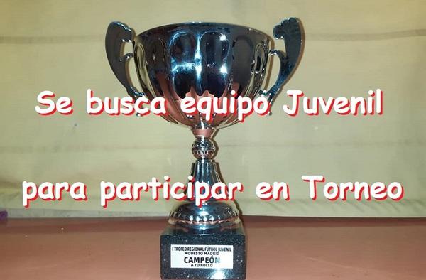 Se busca equipo Juvenil para participar en el I Trofeo Juvenil Fútbol Modesto Madrid