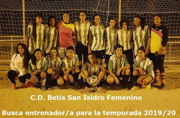 El Femenino Sénior del C.D. Betis San Isidro busca entrenador/a para la temporada 2019/20