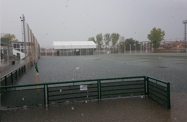 Diversos encuentros de la 1ª jornada de liga suspendidos por el temporal de lluvias
