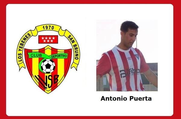 Los Yébenes San Bruno anuncia la llegada al equipo del centrocampista murciano Antonio Puerta
