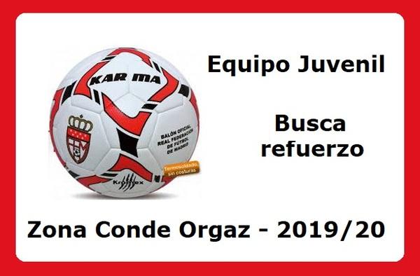 Equipo de Primera Juvenil en zona Conde Orgaz, necesita refuerzo para la temporada 2019/20