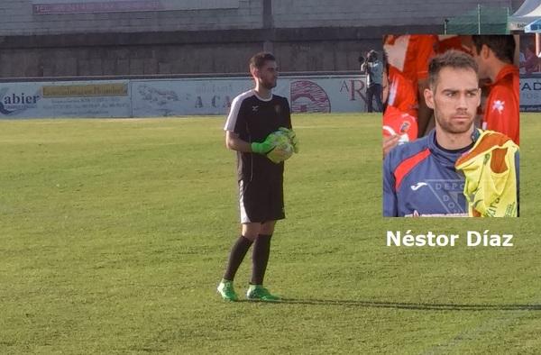 El arquero Néstor Díaz debutaba con el C.D.A. Navalcarnero tras su fichaje en este mes de diciembre