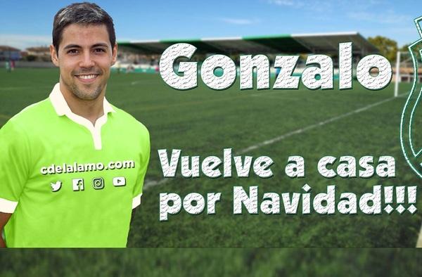 """Gonzalo Zamorano """"Gonza"""", vuelve al C.D. El Álamo tras jugar en la Primera División islandesa"""