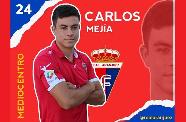Carlos Mejía, nuevo jugador del Real Aranjuez CF