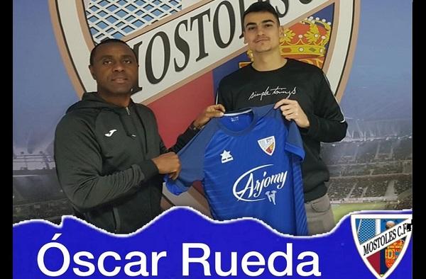 El zaguero Óscar Rueda, nueva incorporación del Móstoles C.F.