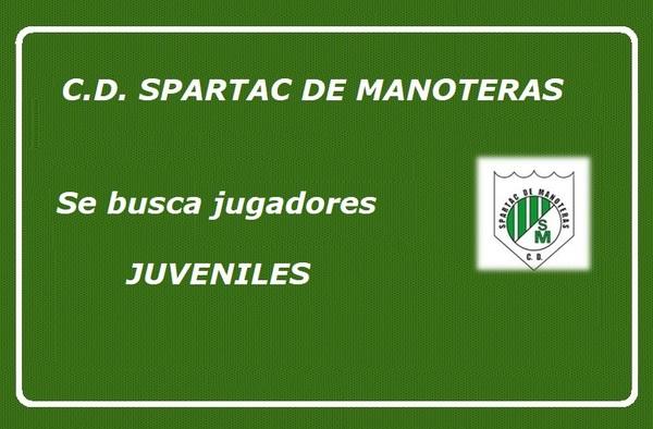 El C.D. Spartac de Manoteras busca jugadores en categoría Juvenil - Temporada 2019/20